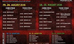 Baltic Open Air 2018 - Running Order